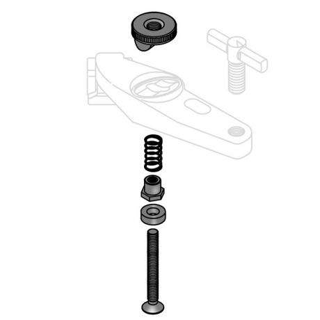 Tama Bolt (M8x45mm), Spring, Washer, Spacer & Nut Assembly for Para Clamp II