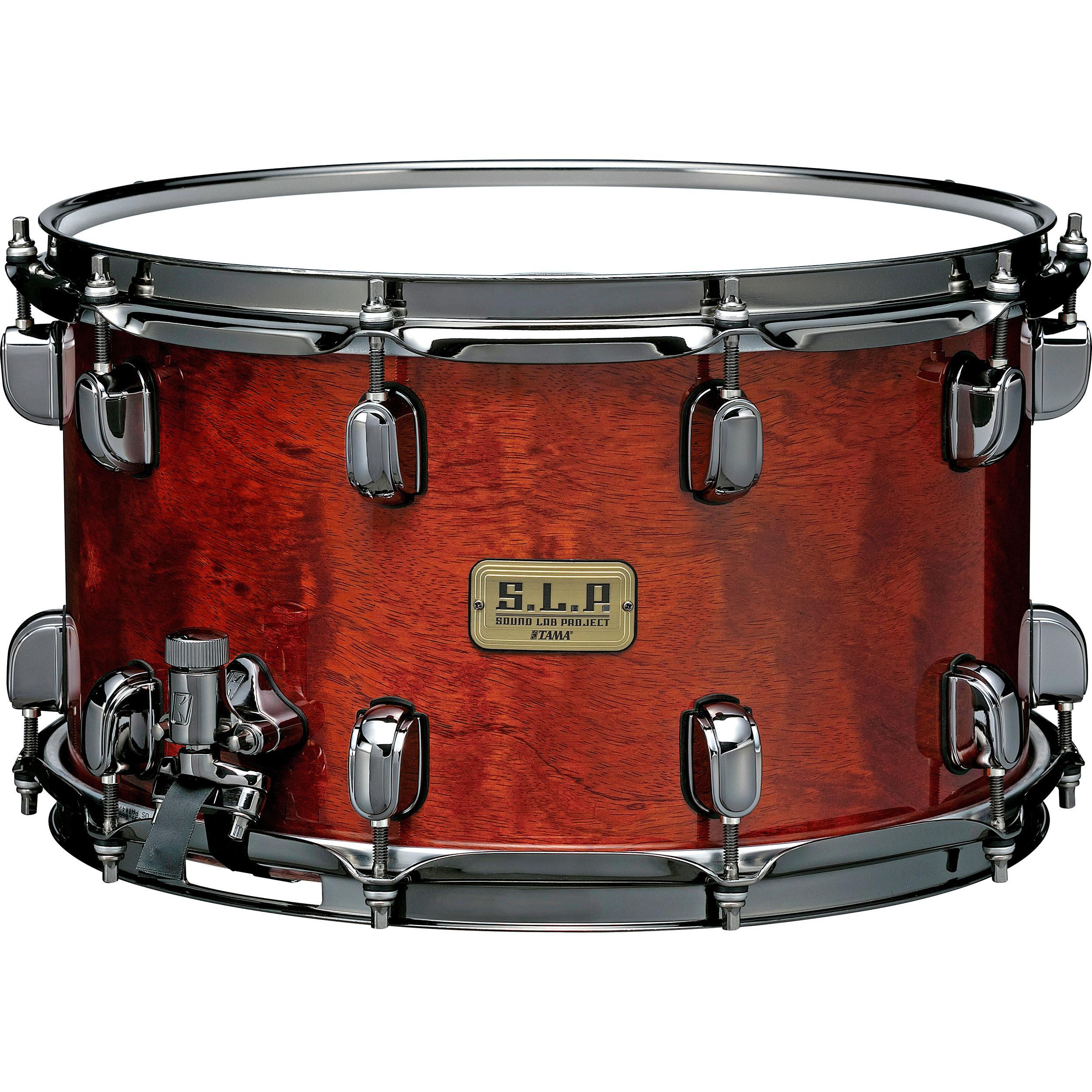 "Tama 8"" x 14"" Limited Edition S.L.P. G-Bubinga Snare Drum in Natural Quilted Bubinga"