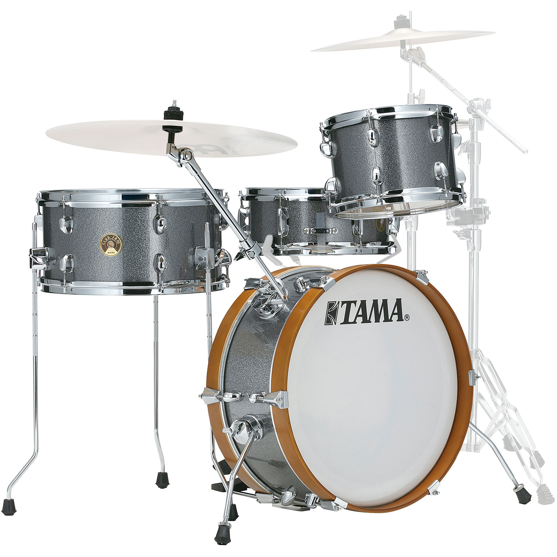 tama club jam 4 piece drum set shell pack 18 bass 10 14 toms 13 snare in wrap finish ljk48s. Black Bedroom Furniture Sets. Home Design Ideas