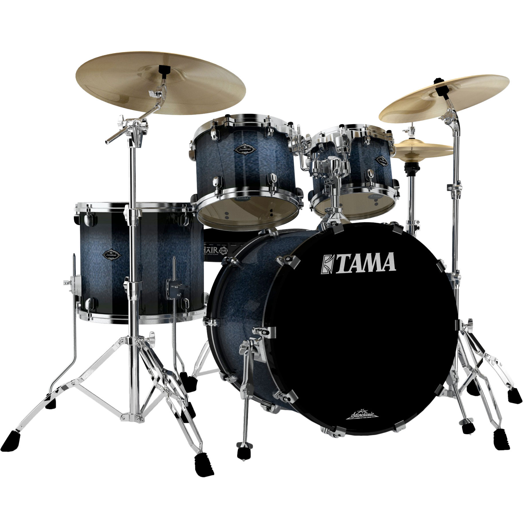 "Tama Starclassic Performer B/B 4-Piece Drum Set Shell Pack (22"" Bass, 10/12/16"" Toms)"
