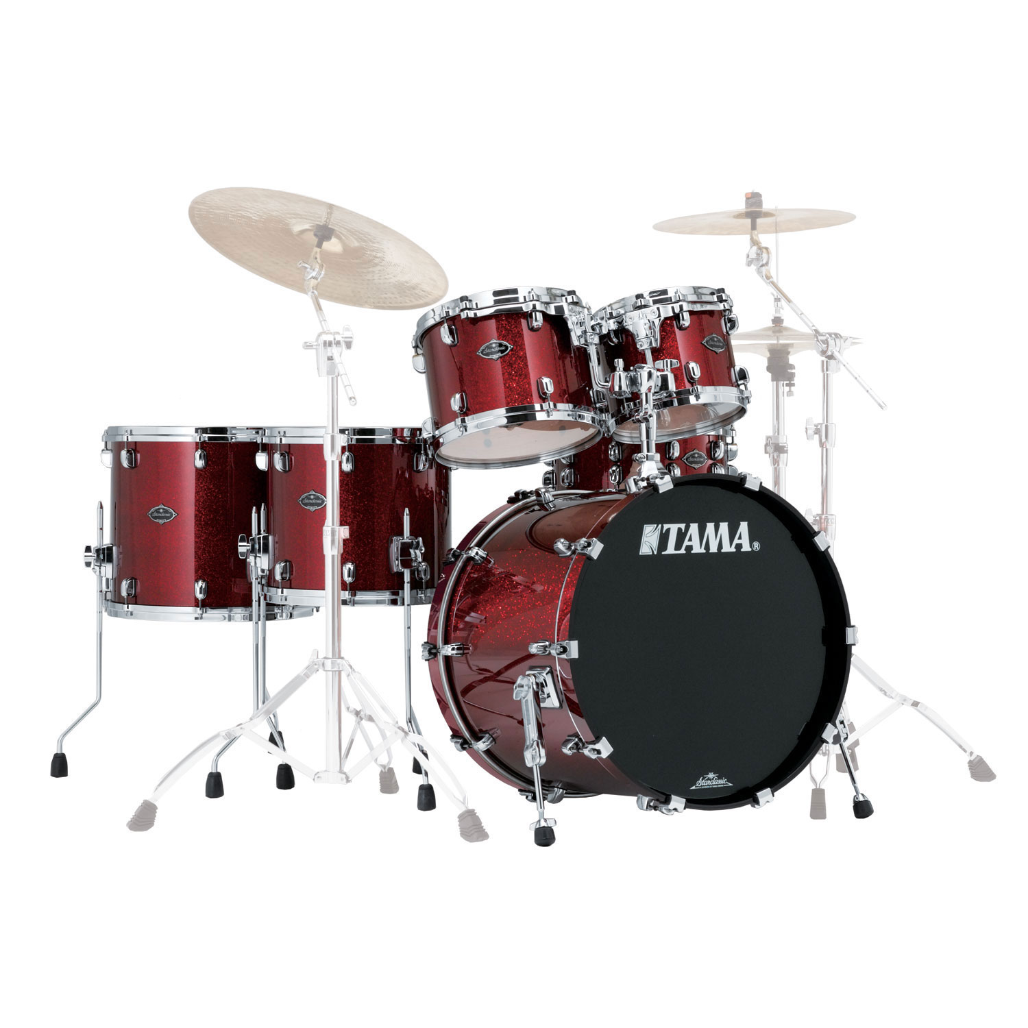 "Tama Starclassic Performer B/B 6-Piece Drum Set with Hardware (22"" Bass, 10/12/14/16"" Toms, 14"" Snare)"