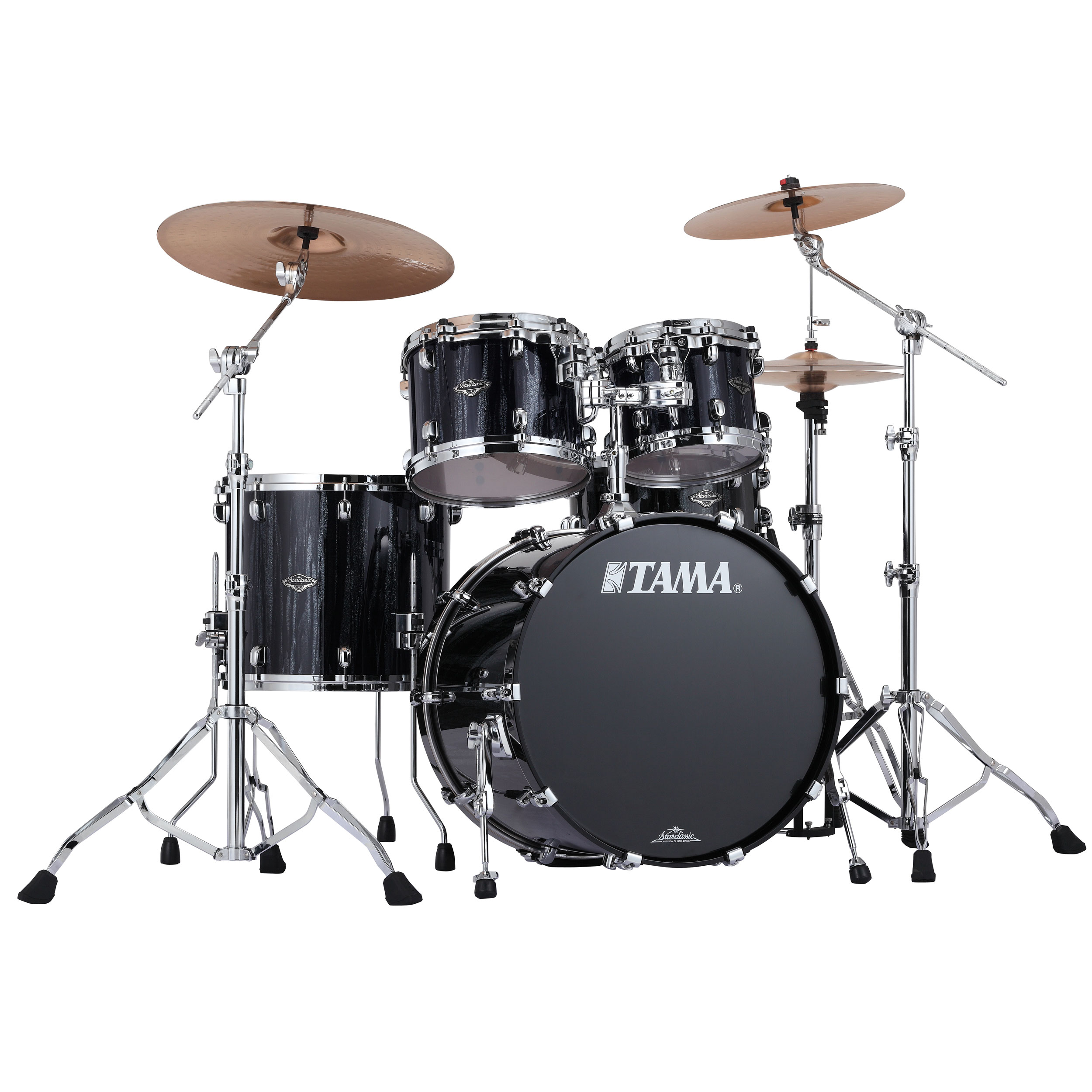 "Tama Starclassic Performer B/B 4-Piece Drum Set Shell Pack (22"" Bass, 10/12/16"" Toms) in Sparkle Finish"