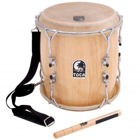 Toca Pro Wood Tambora with Strap & Beater