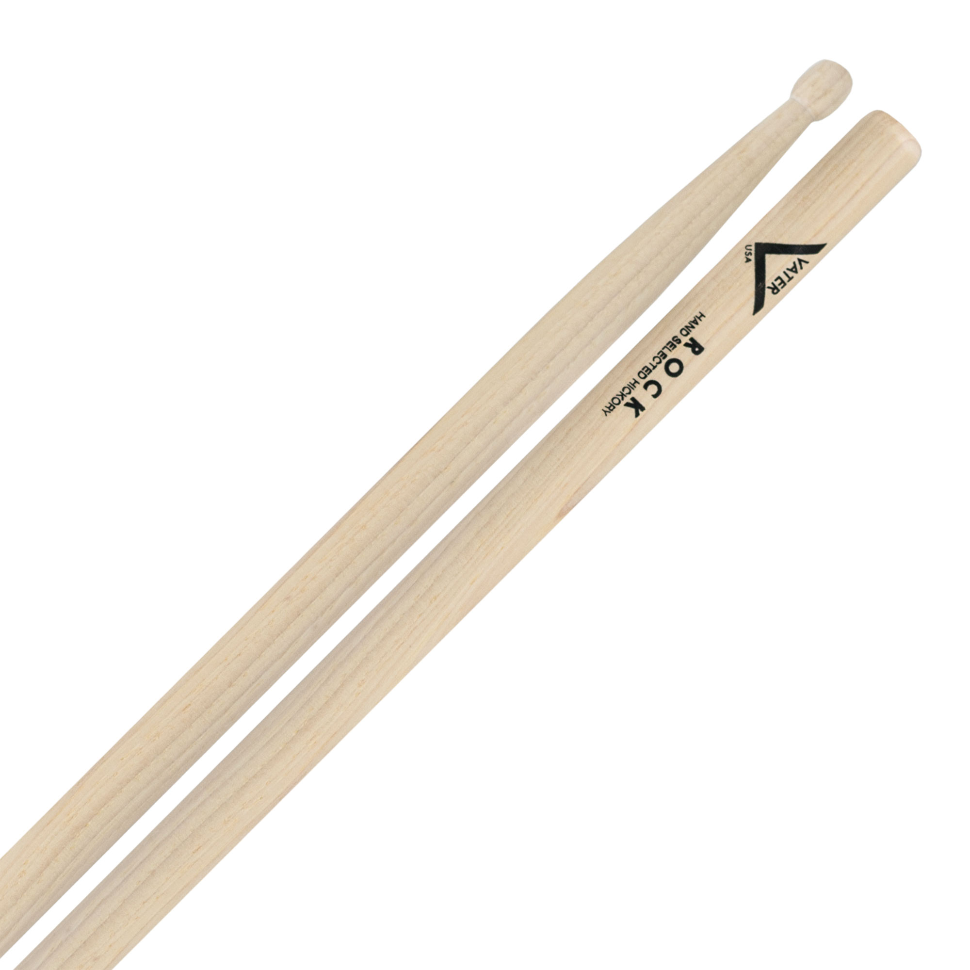 Vater American Hickory Rock Wood Tip Drumsticks