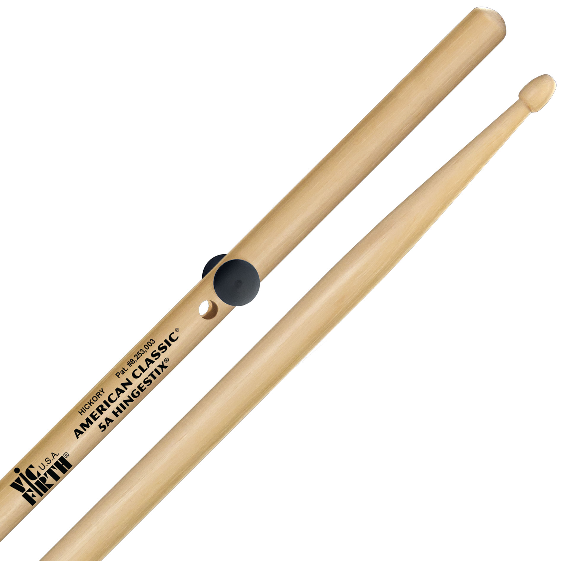 vic firth american classic hingestix 5a practice drumsticks 5ahs. Black Bedroom Furniture Sets. Home Design Ideas