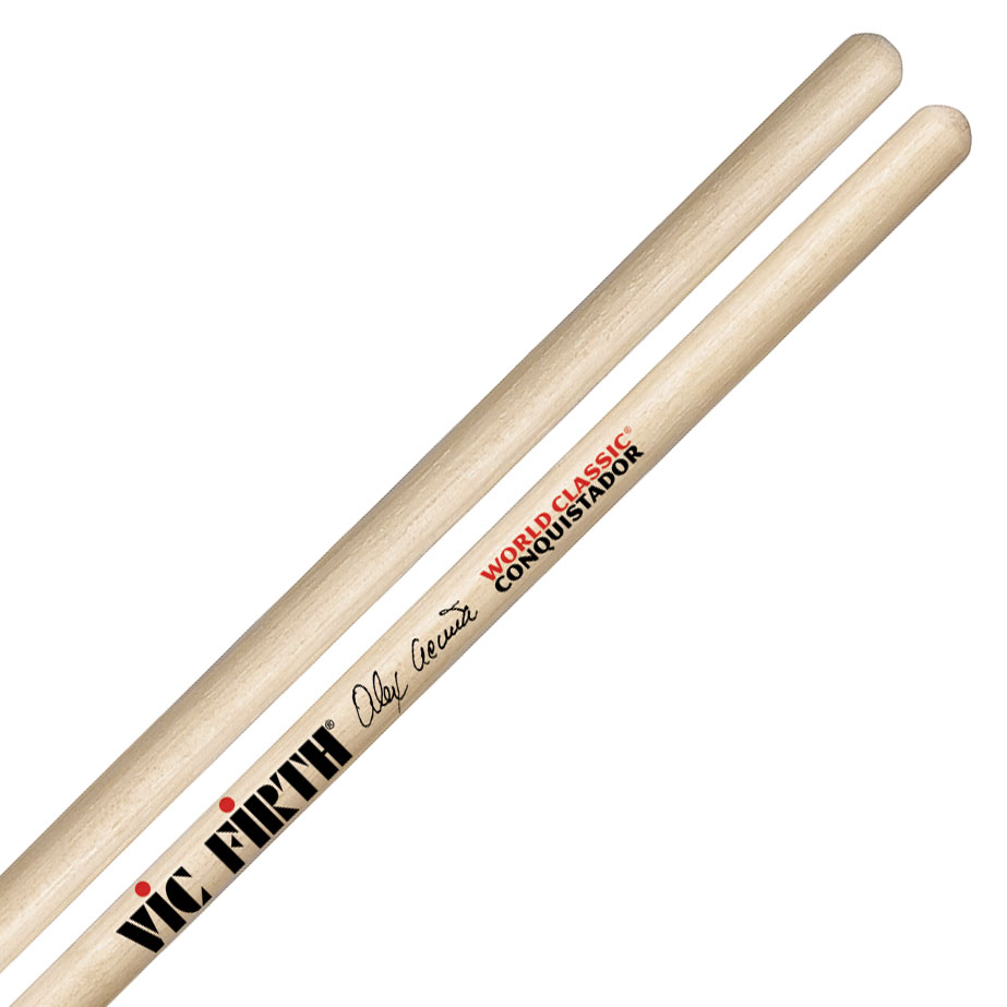 Vic Firth Alex Acuna World Classic Conquistador Clear Signature Timbale Sticks