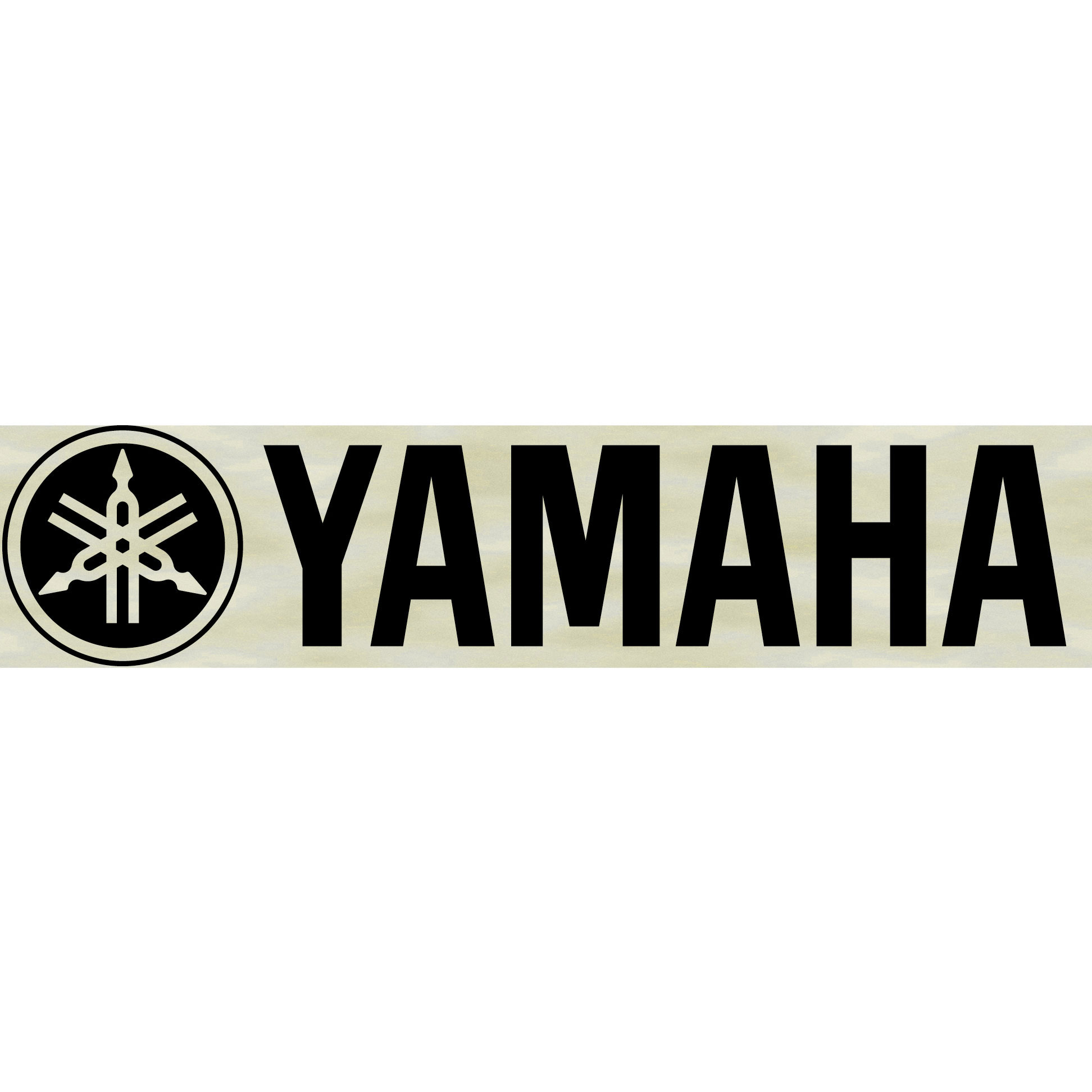 Yamaha Large Black Marching Bass Decal