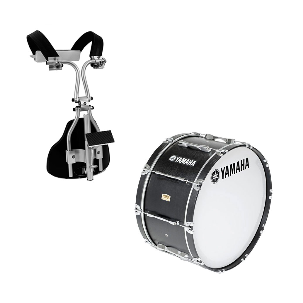 Yamaha 26 x 14 field corps drum monoposto carrier for Yamaha bass drum decal