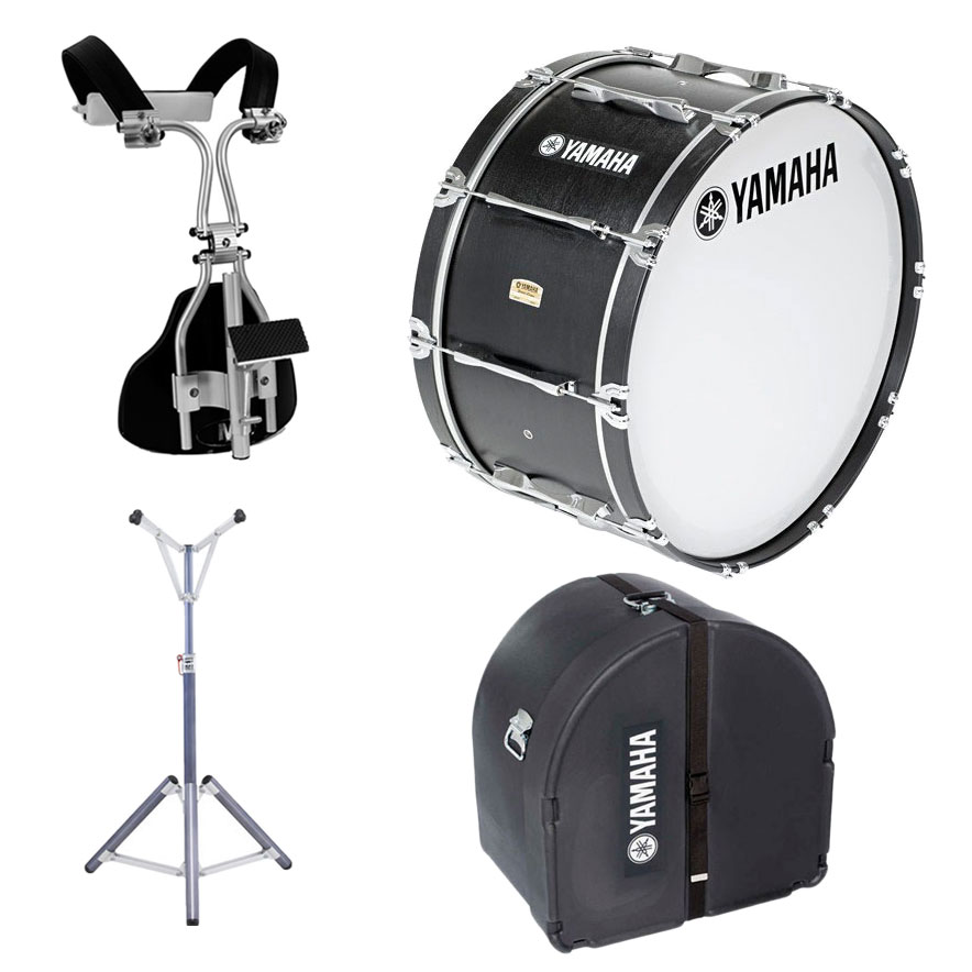 Yamaha 32 x 16 field corps drum monoposto carrier case for Yamaha bass drum decal