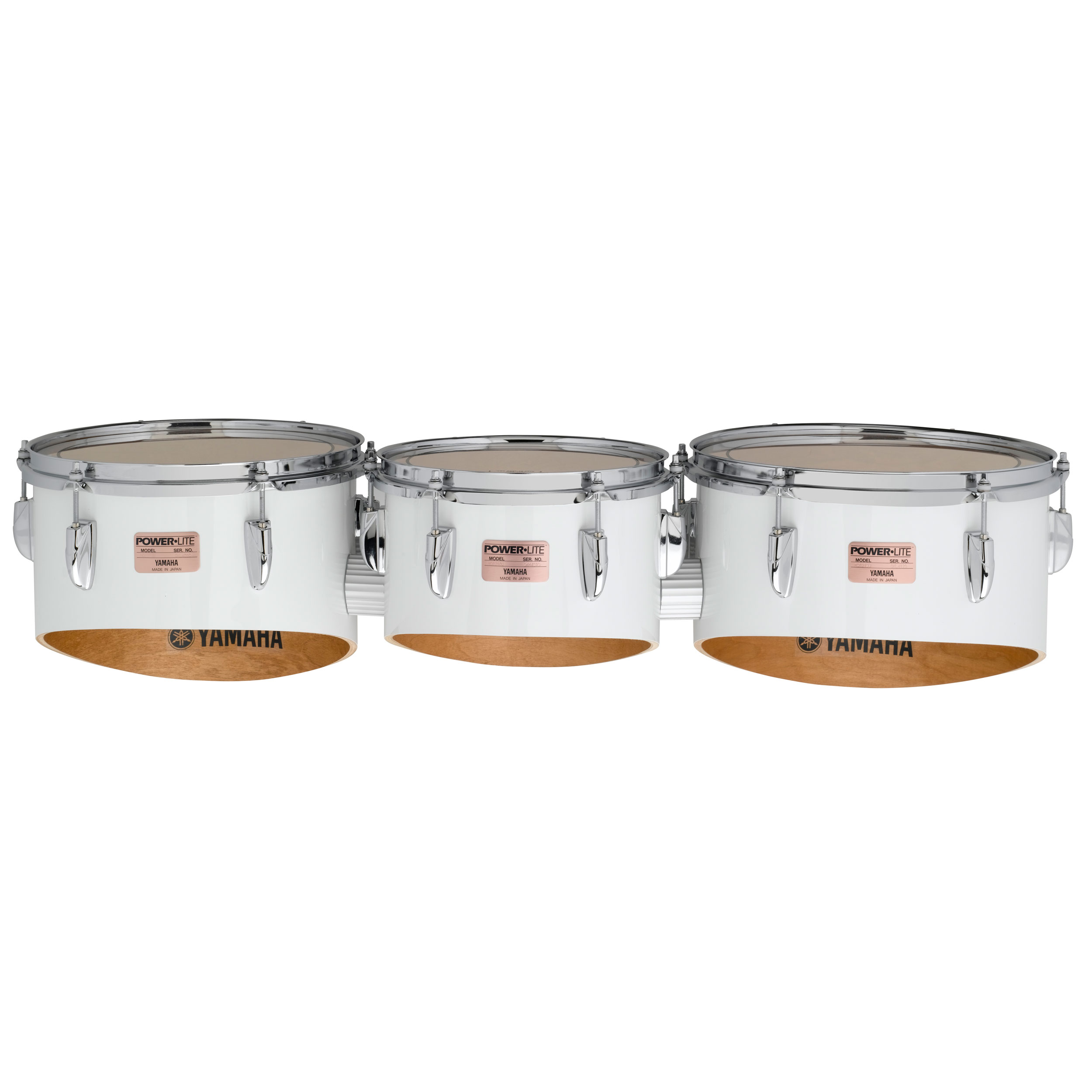 """Yamaha 10-12-13"""" 8200 Field-Corps Marching Tenors in White without Carrier or Back Bar (Used)"""