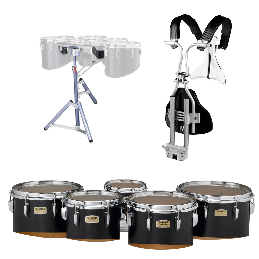 "Yamaha 6-10-12-13-14"" 8300 Field-Corps Marching Tenors with BiPosto Carrier and Stand"