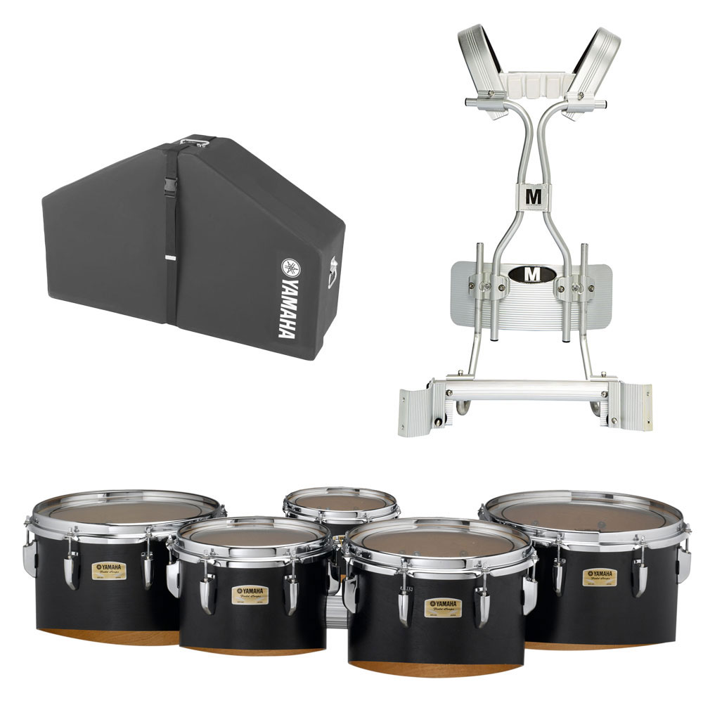 """Yamaha 6-10-12-13-14"""" 8300 Field-Corps Marching Tenors with Tube Carrier and Case"""