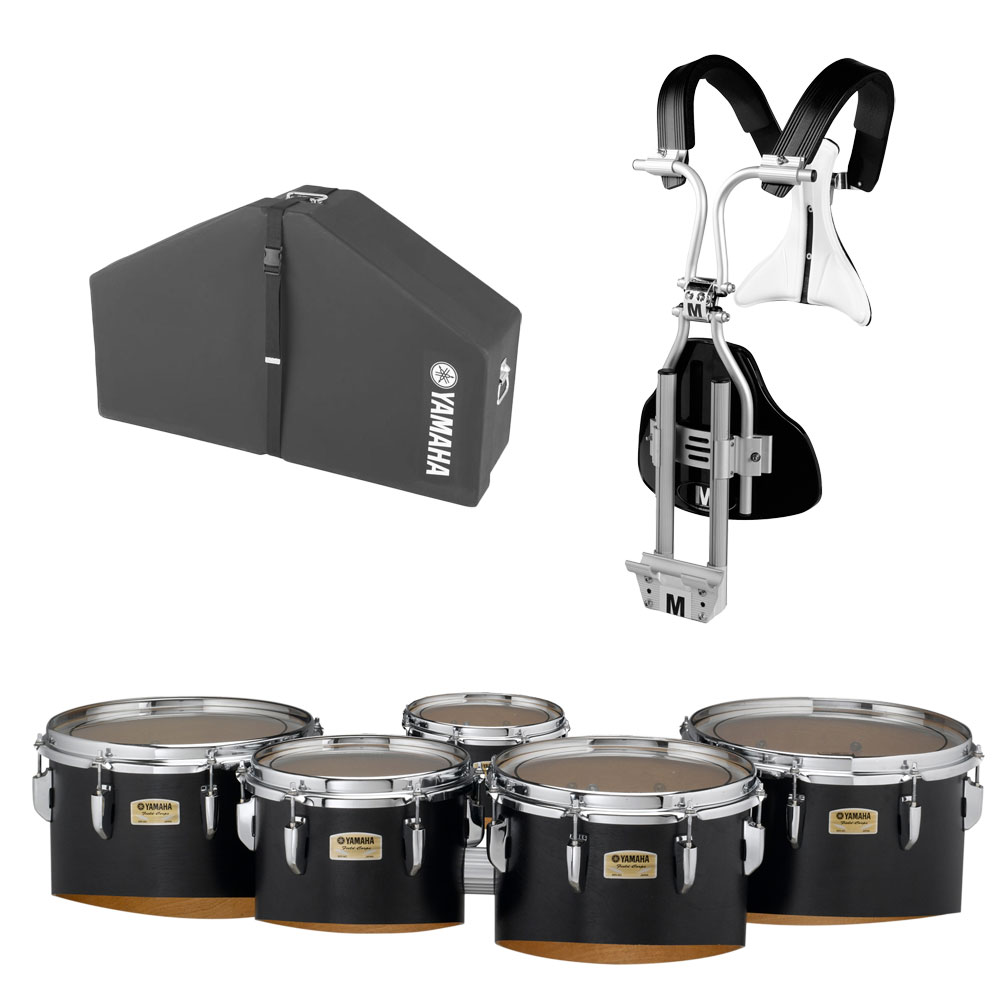 """Yamaha 6-8-10-12-13"""" 8300 Field-Corps Marching Tenors with BiPosto Carrier and Case"""