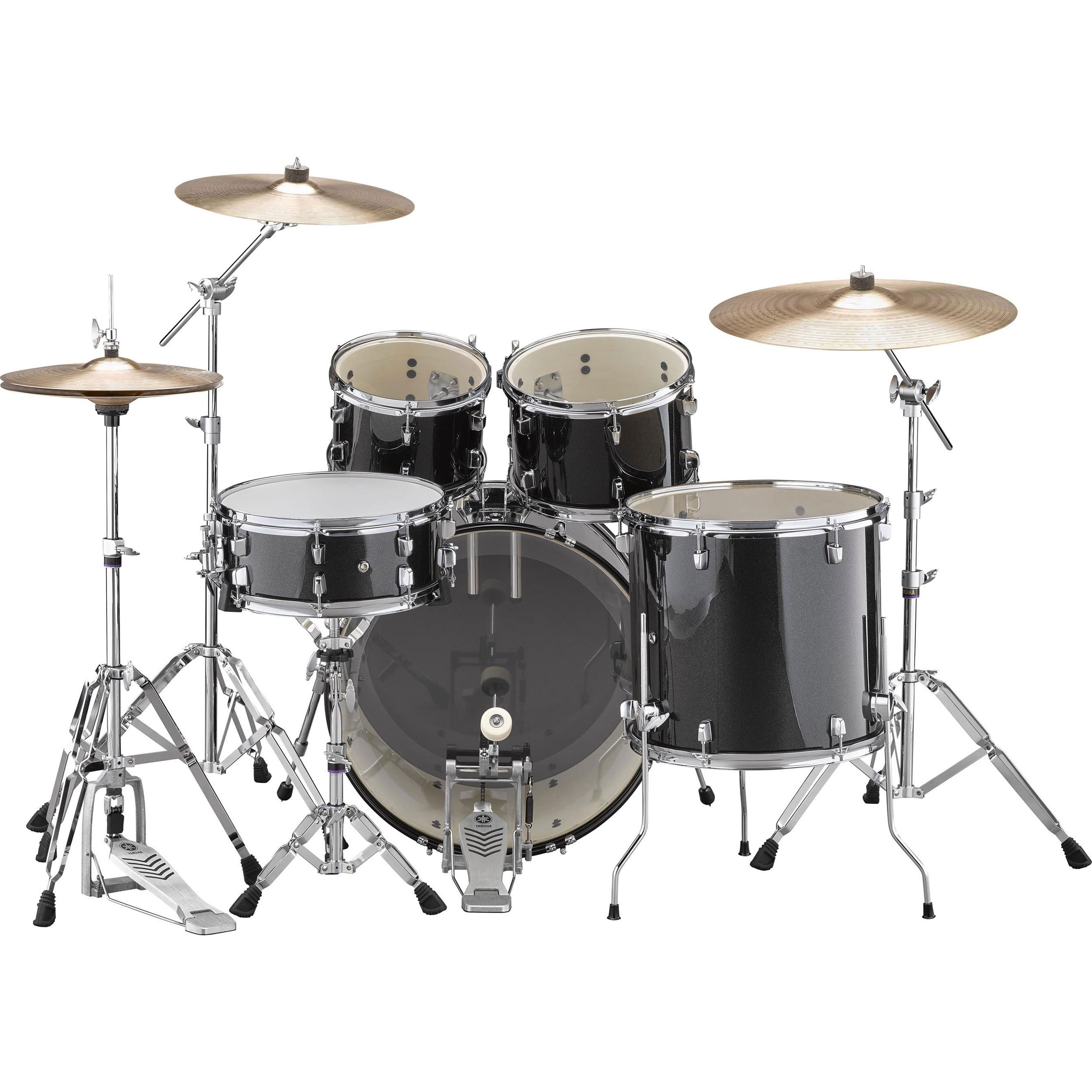 yamaha rydeen 5 piece drum set with hardware cymbals 22 bass 10 12 16 toms 14 snare. Black Bedroom Furniture Sets. Home Design Ideas