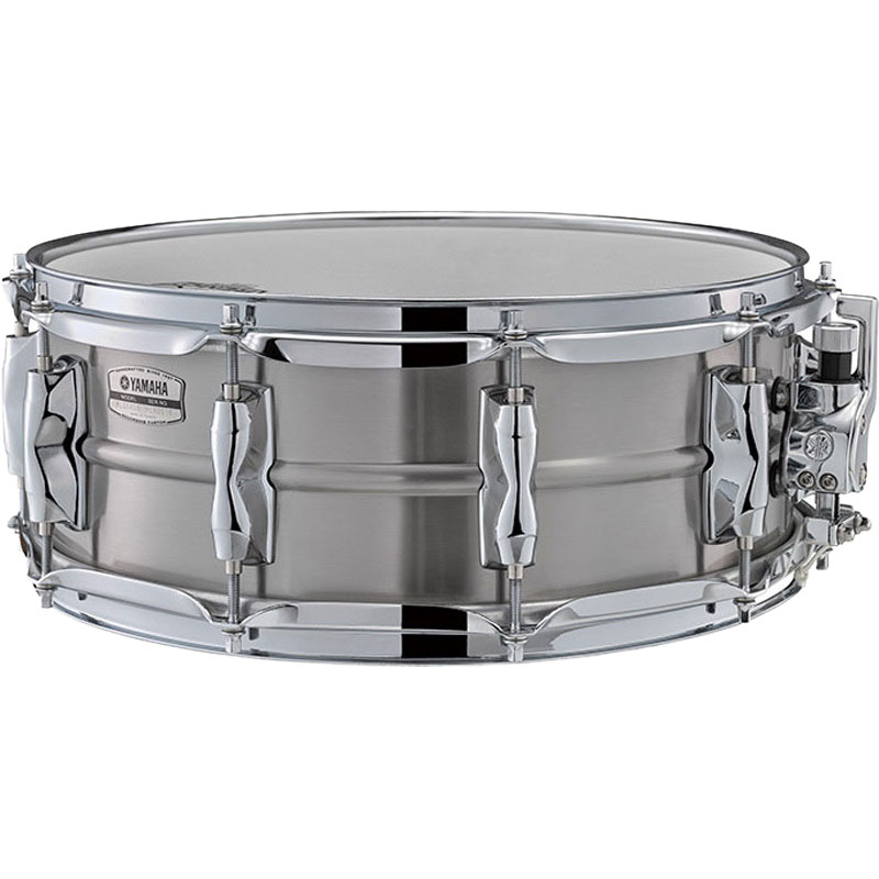 "Yamaha 14"" x 5.5"" Recording Custom Stainless Steel Snare Drum"