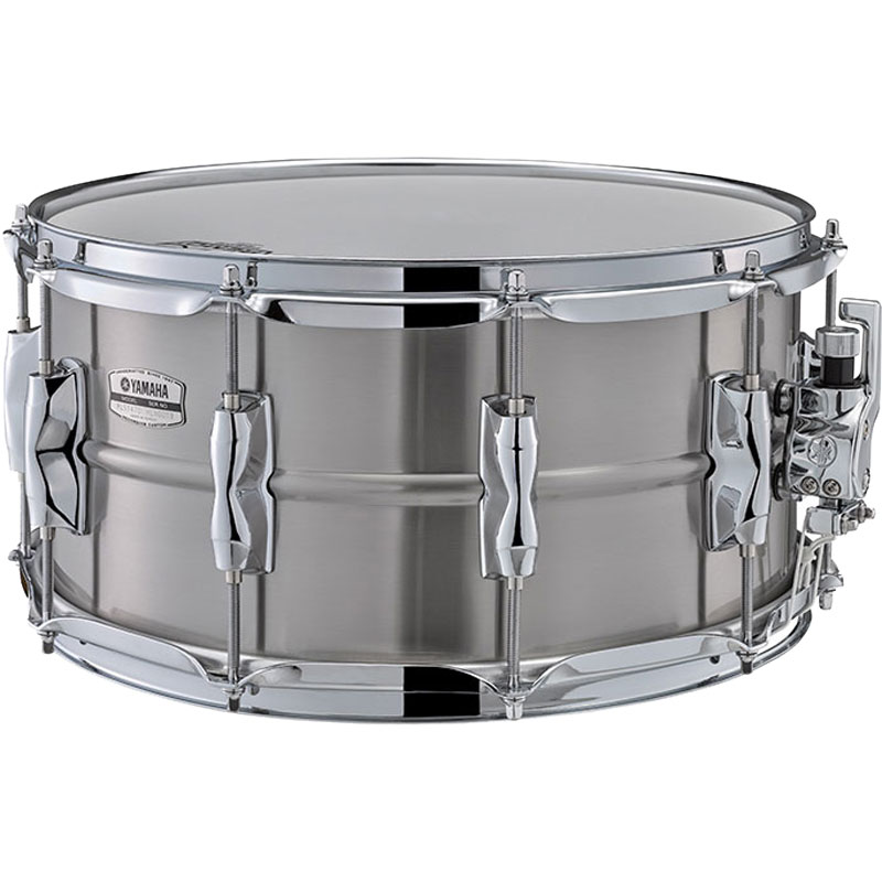 "Yamaha 14"" x 7"" Recording Custom Stainless Steel Snare Drum"
