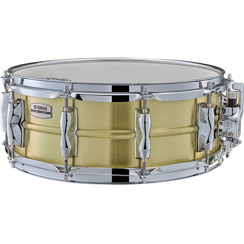 "Yamaha 14"" x 5.5"" Recording Custom Brass Snare Drum"