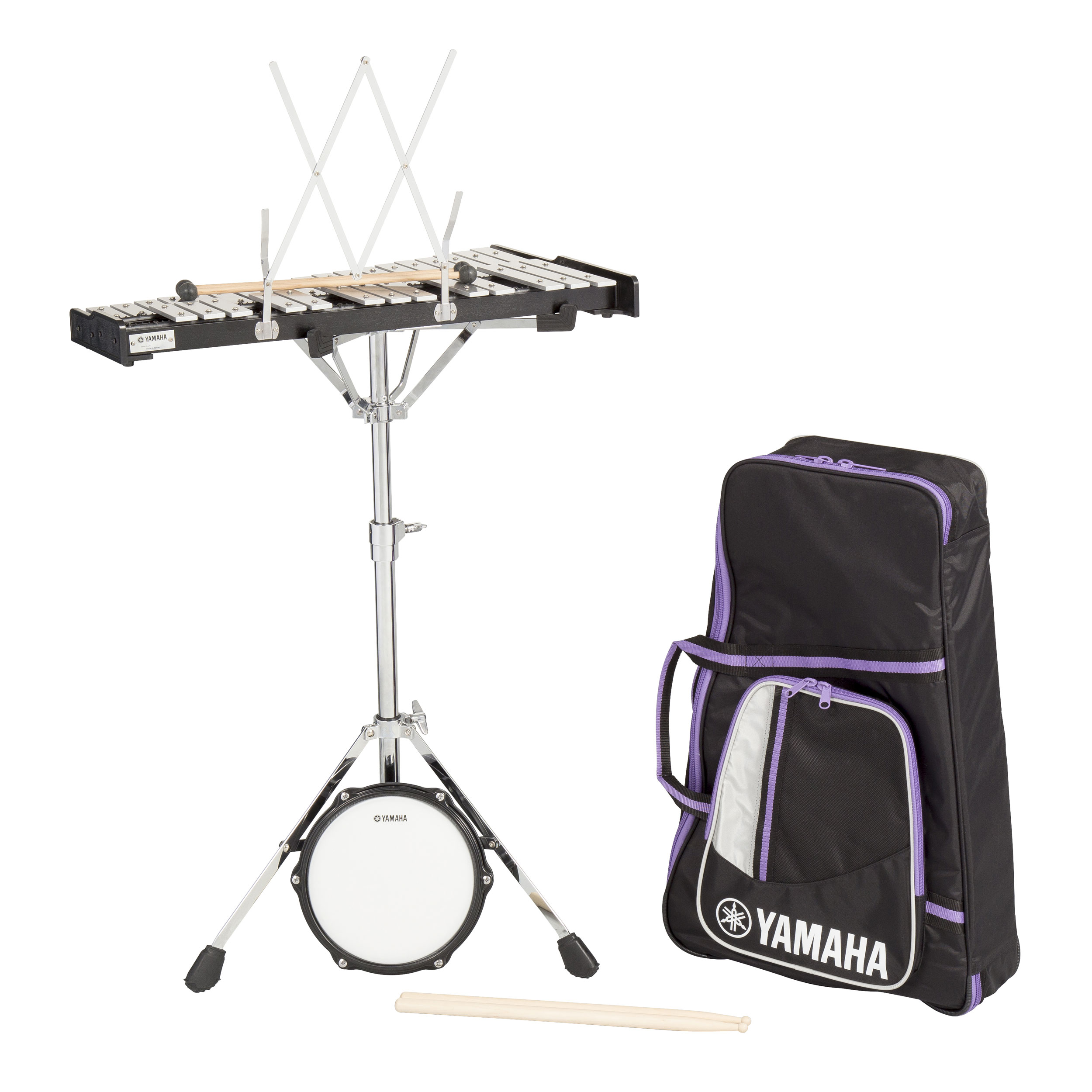 Percussion kit bell kits snare kits yamaha vic for Yamaha student bell kit with backpack and rolling cart
