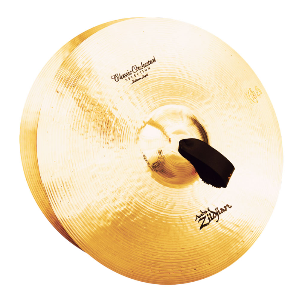 "Zildjian 16"" Classic Orchestral Medium-Heavy Crash Cymbal Pair"