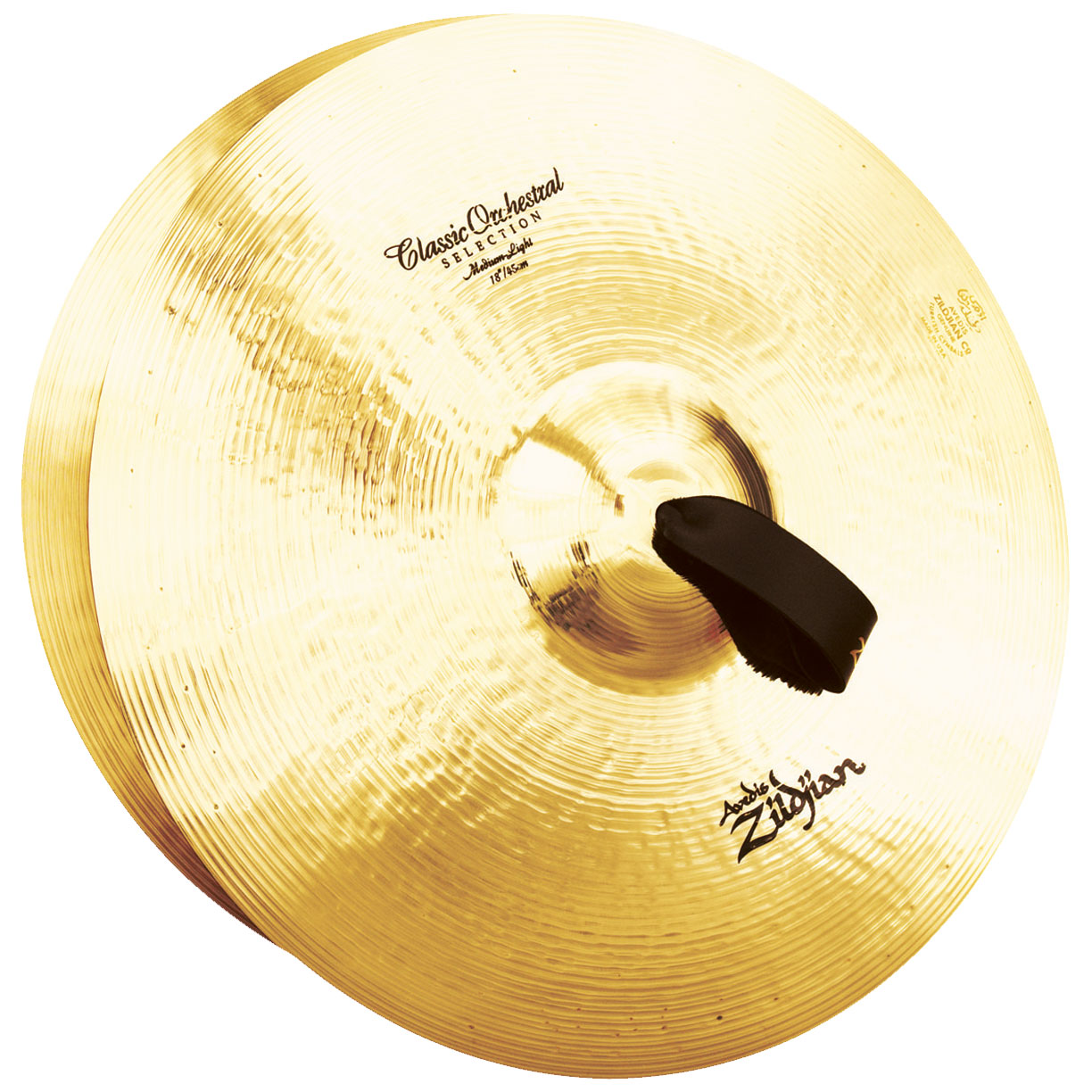 "Zildjian 18"" Classic Orchestral Selection Medium-Light Crash Cymbal Pair"