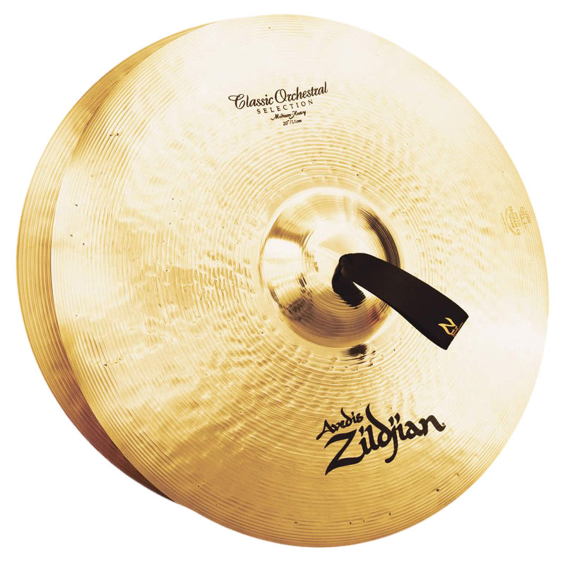"Zildjian 20"" Classic Orchestral Medium-Heavy Crash Cymbal Pair"
