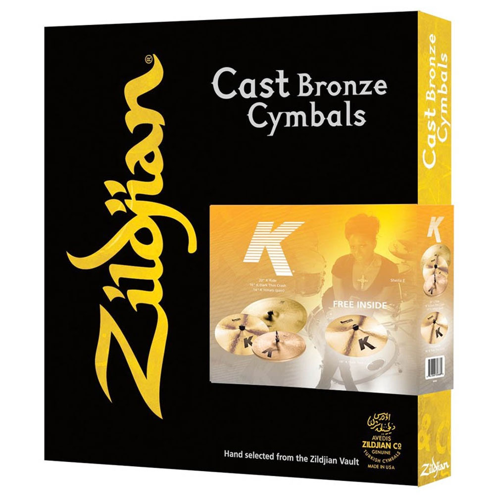 Zildjian K Zildjian 4-Piece Cymbal Box Set (Hi Hats, Crash, Ride, FREE Crash)