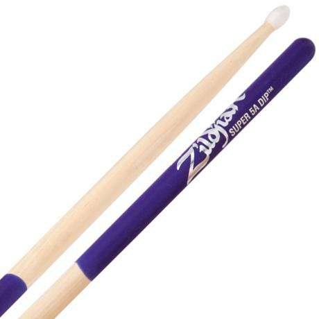 Zildjian Dip Series Super 5A Nylon Tip Purple Drumsticks